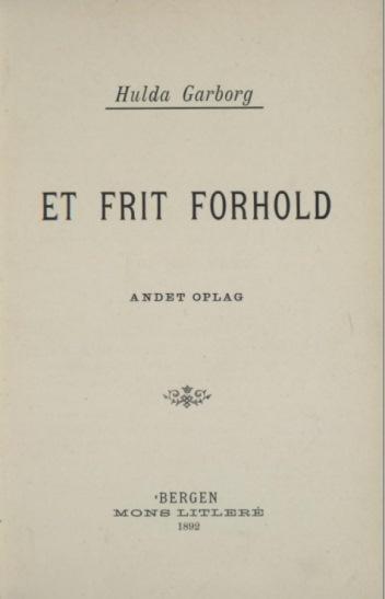 Tittelblad, 2. opplag, 1892