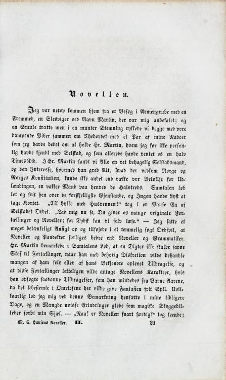 Mauritz Hansens Noveller og Fortællinger, bind 2, 1856, s. 321