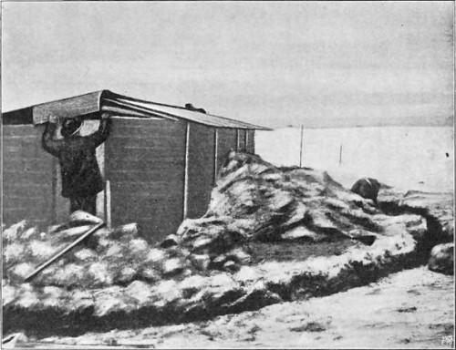 """BYGNING AV """"REGISTERHUSET"""". GJØAHAVN 1903."""