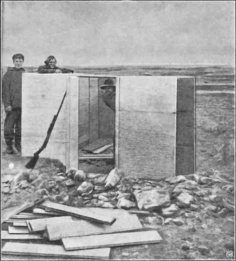 DET MAGNETISKE VARIATIONSHUSUNDER BYGNING. GJØAHAVN 1903.