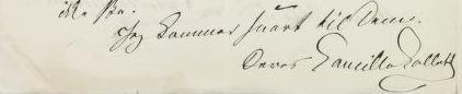 Hilsen og signatur i brev til S. Ibsen 17/4 1877 (Brevs. 200)