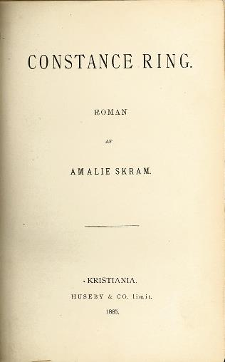 Tittelblad, 1. utgave, 1885
