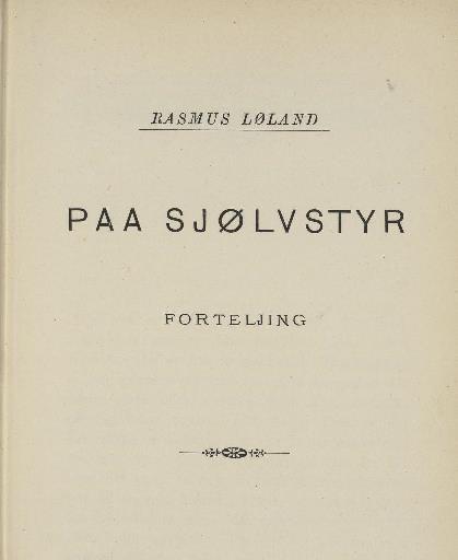 Faksimile av tittelblad i 1. utg., 1892