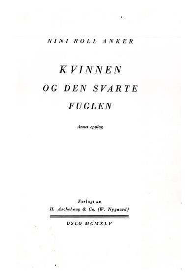 Faksimile, tittelblad fra 2. opplag, 1945