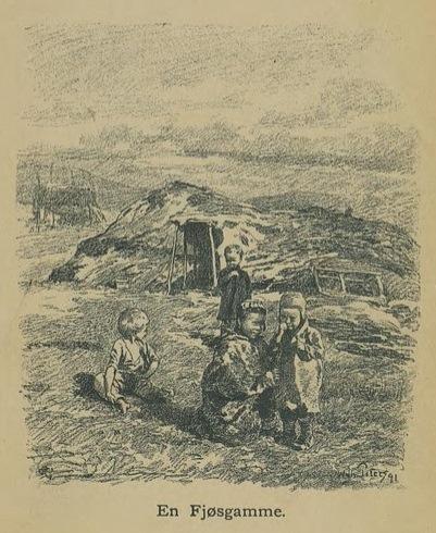 Illustrasjon fra Skildringer fra Finmarken (Ella), 1. utgave, 1891, s. 21