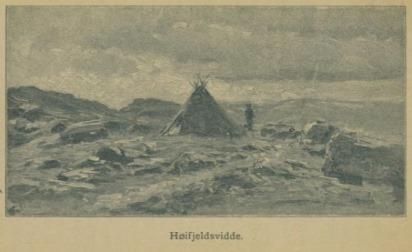 Illustrasjon fra Skildringer fra Finmarken (Ella), 1. utgave, 1891, s. 42