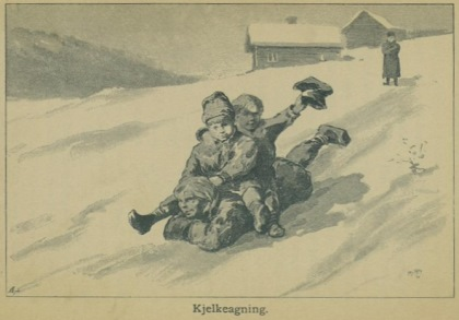 Illustrasjon fra Skildringer fra Finmarken (Ella), 1. utgave, 1891, s. 46