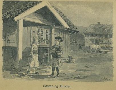 Illustrasjon fra Skildringer fra Finmarken (Ella), 1. utgave, 1891, s. 56