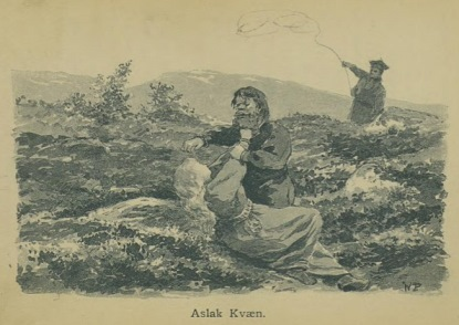 Illustrasjon fra Skildringer fra Finmarken (Ella), 1. utgave, 1891, s. 72
