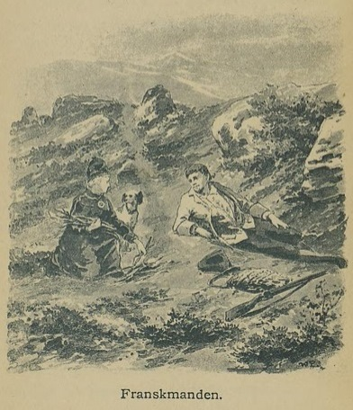Illustrasjon fra Skildringer fra Finmarken (Ella), 1. utgave, 1891, s. 87