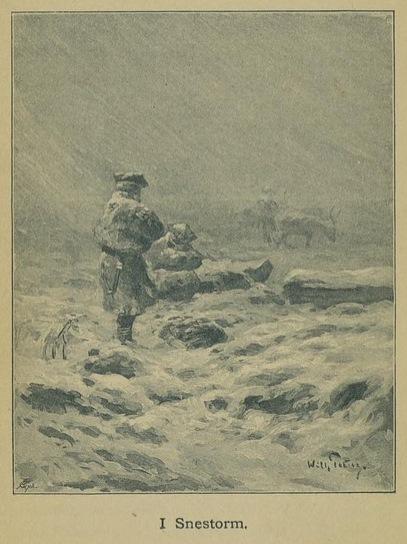 Illustrasjon fra Skildringer fra Finmarken (Ella), 1. utgave, 1891, s. 132