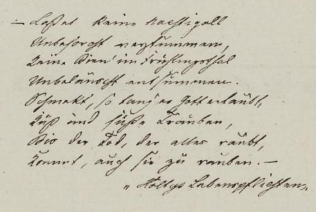 Dagbok 1833, innledende dikt,  Ms.8° 867