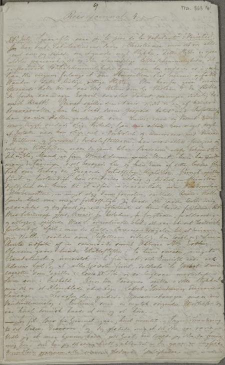 Dagbok 1840, s. 1,Ms.8° 868