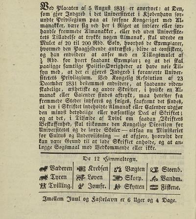 Dagbok 1850, almanakk (s. 2), Ms.8° 869