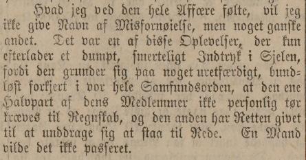 Utsnitt av Morgenbladet 22. april 1880