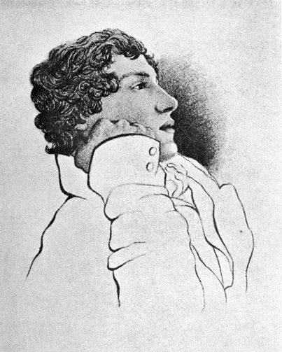 John Keats, tegnet av Charles Brown