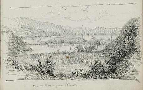 Vue de Bergen prise d'Aarsta –