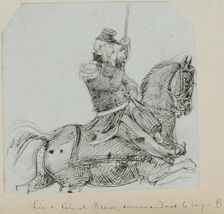 Lieut. Colonel Brun, commandant le Corps B
