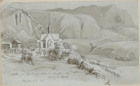 Attaque de la position de Skattvold15 Août 1856