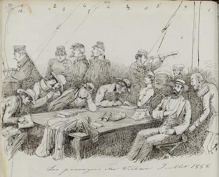 Les passagers du Vidar Juillet 1856