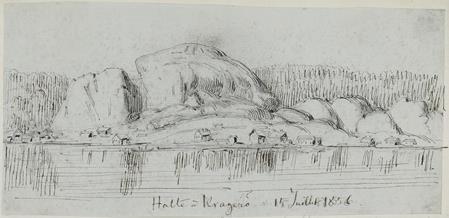 Halte à Kragerø‹:› 15 Juillet 1856.