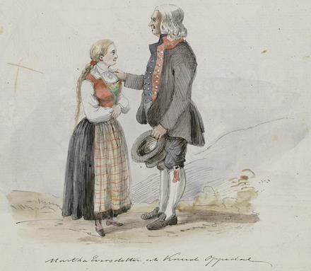 Martha Eversdotter och Knud Oppedal