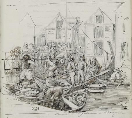 Marché aux poissons à Bergen