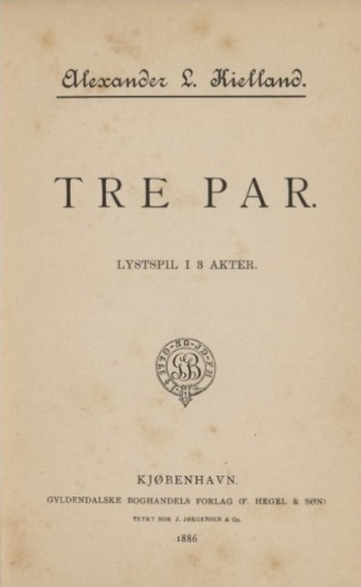 Tittelblad, 1. utgave, 1886