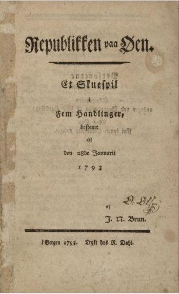 Tittelblad, 1. utgave, 1793