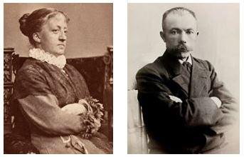 Kitty L. Kielland og Arne Garborg