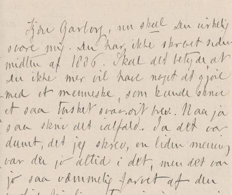 Kitty L. Kielland, udatert brevutkast til Arne Garborg, Ms.4° 4318:A
