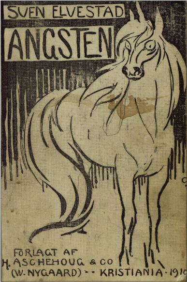 Omslag, 1. utgave av Angsten, 1910