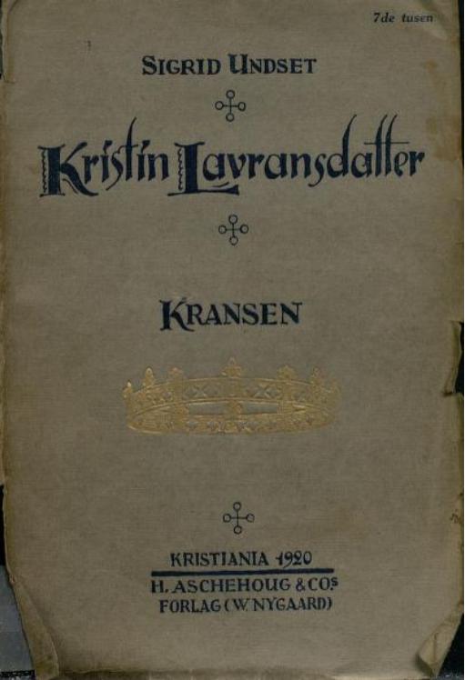 Omslaget til 1. utgave, 1920