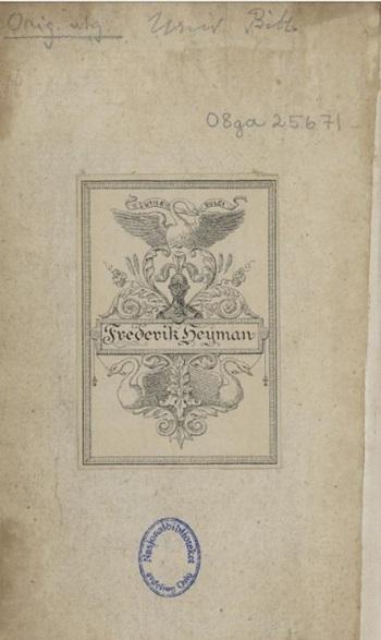 Ekslibris av papir (Utile dulci, Frederik Heyman)