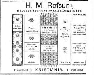 Annonse i Aftenposten (morgenavisen), januar 1895