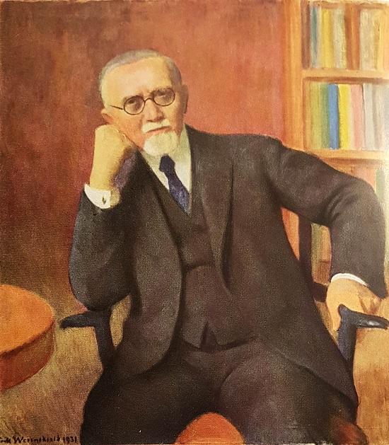 H.M. Refsum. Maleri av Erik Werenskiold, 1931 (her kopiert fra Kielland 1937, vis-à-vis tittelbladet)