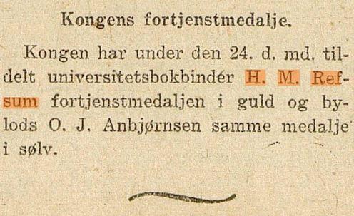Kunngjøring i Norske Intelligenssedler 27.10.1919