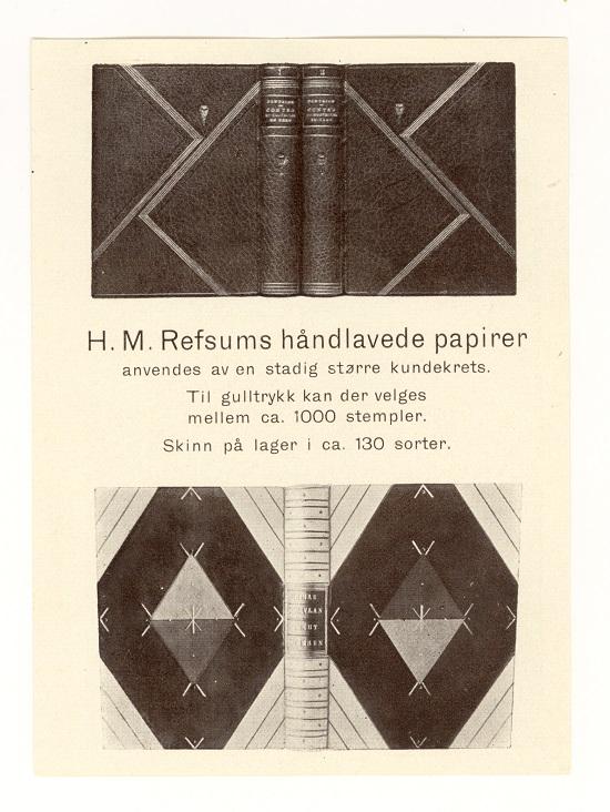 Brosjyre vedlagt i et privateid eksemplar av Ratche 1930
