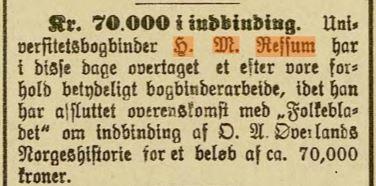 Kunngjøring i Stavanger Aftenblad, 18.10.1889