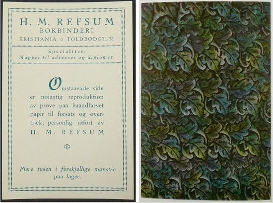 Reklamebrosjyre fra 1910